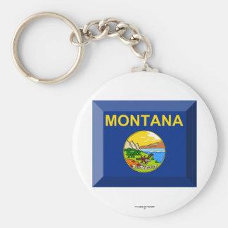 Montana Flag Gem Keychains