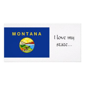 Montana Flag Photo Card