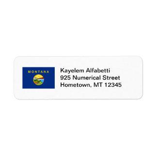 Montana Flag Return Address Label