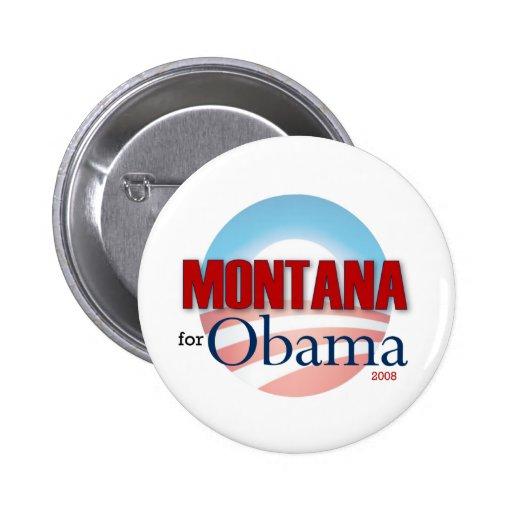 MONTANA for Obama Button