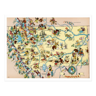 Montana Funny Map Postcard