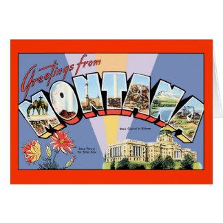 Montana Greetings Card