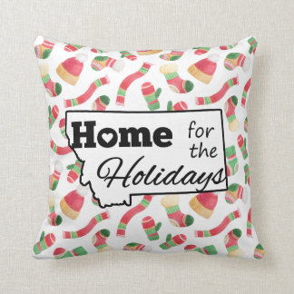 Montana Home for the Holidays Hat & Mittens Pillow