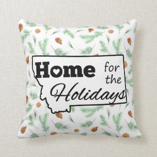 Montana Home for the Holidays Pine Cones & Needles Cushion