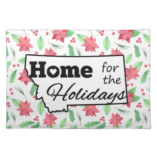 Montana Home for the Holidays Poinsettia Place Mat