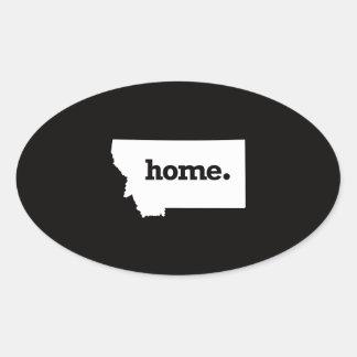 Montana Home Oval Sticker