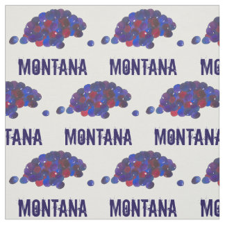 Montana Huckleberries Blue Huckleberry Fruit Berry Fabric