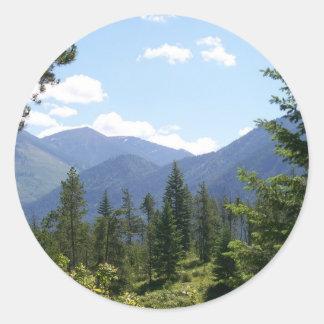 Montana Landscape Classic Round Sticker