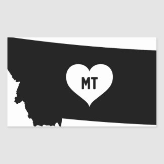 Montana Love Rectangular Sticker