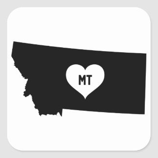 Montana Love Square Sticker