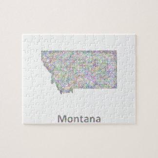 Montana map jigsaw puzzle