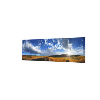 Montana Morning Fields Landscape Panorama Canvas Print