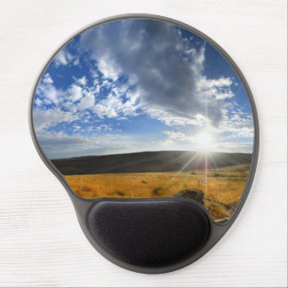 Montana Morning Fields Landscape Panorama Gel Mouse Pad