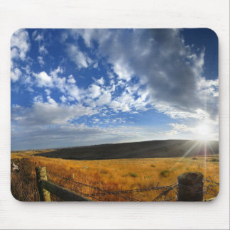 Montana Morning Fields Landscape Panorama Mouse Pad