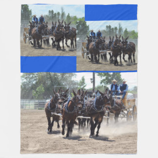 Montana Mule Days June 2016 Fleece Blanket