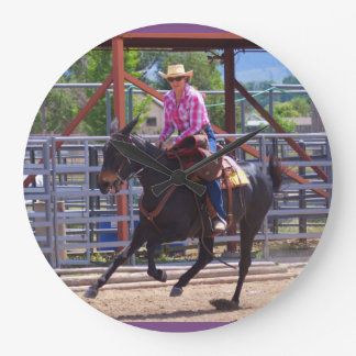 Montana Mule Days June 2016 Large Clock