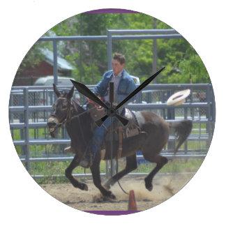 Montana Mule Days June 2016 Large Clock