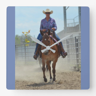 Montana Mule Days June 2016 Square Wall Clock