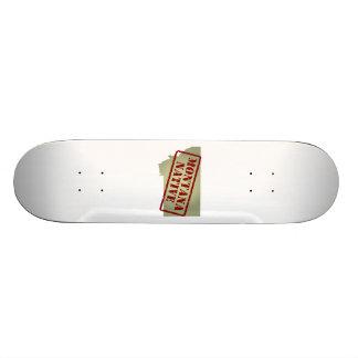 Montana Native Stamped on Map Skateboards