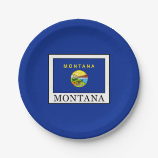 Montana Paper Plate
