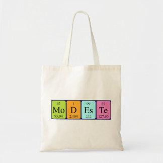 Montana periodic table name tote bag