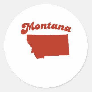 MONTANA Red State Round Sticker