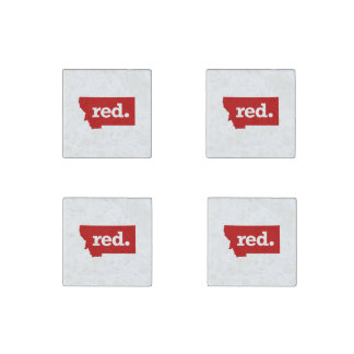 MONTANA RED STATE STONE MAGNET