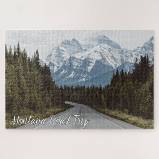 Montana Road Trip Scenic Highway Mountains Jigsaw Puzzle