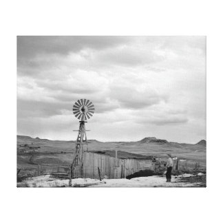 Montana Sheep Ranch 1942 Stretched Canvas Print