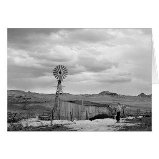Montana Sheep Ranch 1942 Greeting Card