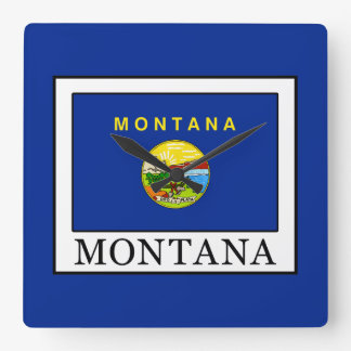 Montana Square Wall Clock