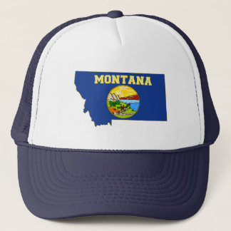 Montana State Flag and Map Trucker Hat