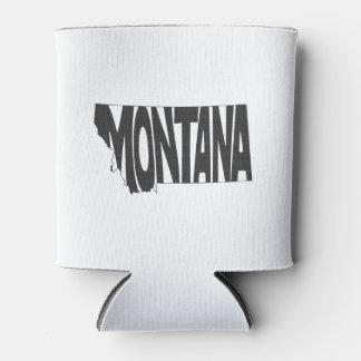 Montana State Name Word Art Black