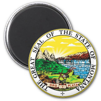 Montana State Seal 6 Cm Round Magnet
