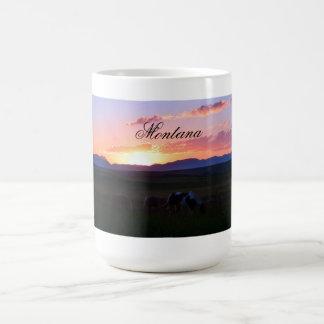 Montana Sunset Basic White Mug