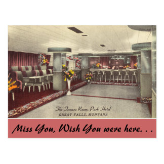 Montana, The Terrace Room, Park Hotel Postcard
