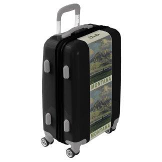 Montana USA vintage travel custom name luggage