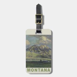 Montana USA Vintage Travel luggage tag