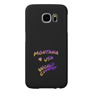 Montana USA world country,  colorful text art Samsung Galaxy S6 Cases