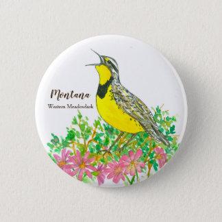 Montana Western Meadowlark State Bird 6 Cm Round Badge