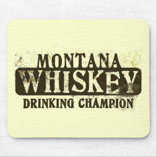 Montana Whiskey Drinking Champion Mouse Mats