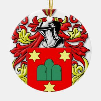 Montanaro Coat of Arms Ceramic Ornament