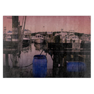 Montauk Fisherman's Marina and Docked Boats Cutting Board