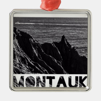 montauk graphic metal ornament