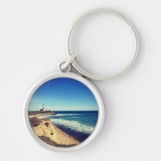 montauk keyhain Silver-Colored round key ring
