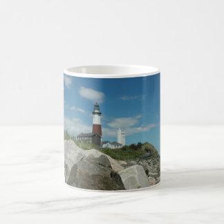 Montauk Lighthouse Basic White Mug