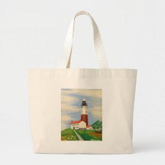 Montauk Lighthouse Large Tote Bag