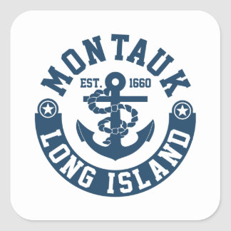 Montauk Long Island Square Sticker