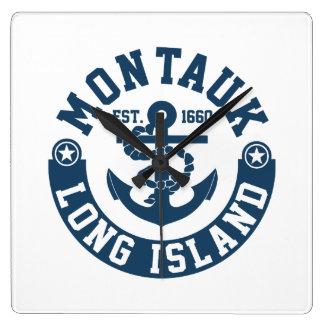 Montauk Long Island Square Wall Clock