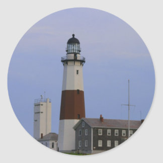 Montauk Point Light Classic Round Sticker